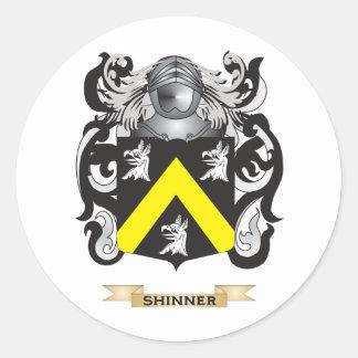 Escudo de armas de Shinner escudo de la familia Pegatina Redonda