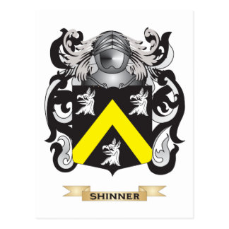 Escudo de armas de Shinner (escudo de la familia) Postal