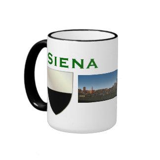 Escudo de armas de Siena de la taza Italia