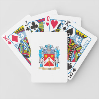 Escudo de armas de Sim - escudo de la familia Baraja Cartas De Poker