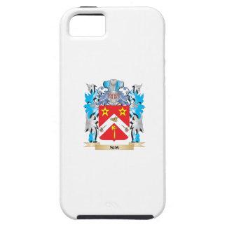 Escudo de armas de Sim - escudo de la familia iPhone 5 Protectores