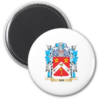 Escudo de armas de Sim - escudo de la familia Imán De Nevera