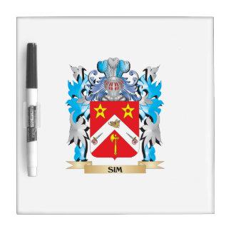 Escudo de armas de Sim - escudo de la familia Tableros Blancos