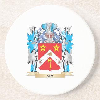 Escudo de armas de Sim - escudo de la familia Posavasos Para Bebidas
