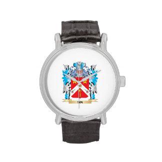Escudo de armas de Sim - escudo de la familia Relojes De Mano