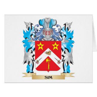 Escudo de armas de Sim - escudo de la familia Tarjetón