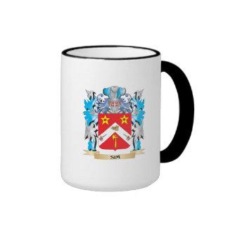 Escudo de armas de Sim - escudo de la familia Tazas