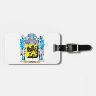 Escudo de armas de Simes - escudo de la familia Etiquetas Para Maletas