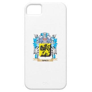 Escudo de armas de Simes - escudo de la familia iPhone 5 Case-Mate Funda