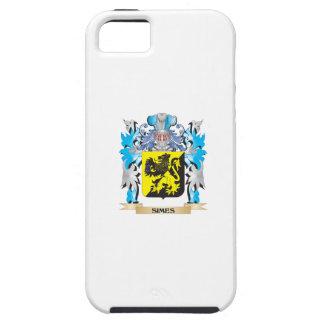 Escudo de armas de Simes - escudo de la familia iPhone 5 Case-Mate Cárcasa