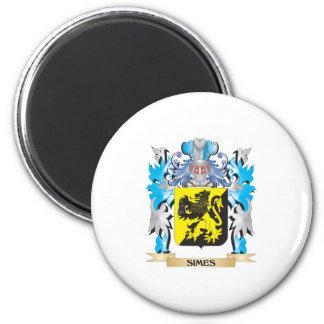 Escudo de armas de Simes - escudo de la familia Iman De Frigorífico