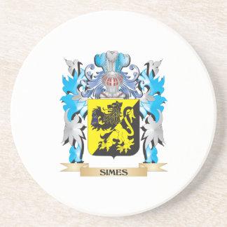 Escudo de armas de Simes - escudo de la familia Posavaso Para Bebida