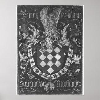 Escudo de armas de Simon de Lalaing Póster
