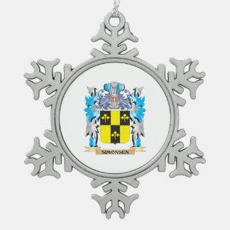 Escudo de armas de Simonsen - escudo de la familia Adorno De Peltre En Forma De Copo De Nieve
