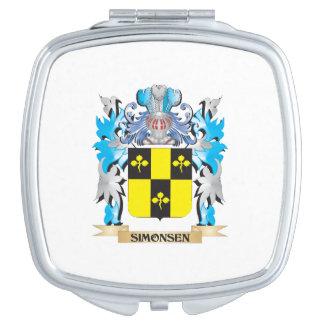 Escudo de armas de Simonsen - escudo de la familia Espejo Para El Bolso