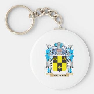 Escudo de armas de Simonsen - escudo de la familia Llavero Redondo Tipo Pin