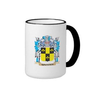 Escudo de armas de Simonsen - escudo de la familia Taza A Dos Colores