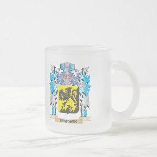 Escudo de armas de Simpson - escudo de la familia Taza De Cristal