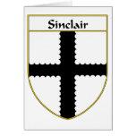 Escudo de armas de Sinclair/escudo de la familia Tarjetón