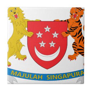 Escudo de armas de Singapur Azulejos Ceramicos