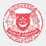 Escudo de armas de Singapur Etiqueta Redonda