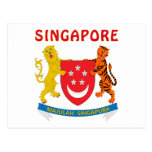 Escudo de armas de SINGAPUR Tarjeta Postal