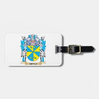 Escudo de armas de Sipple - escudo de la familia Etiquetas De Maletas