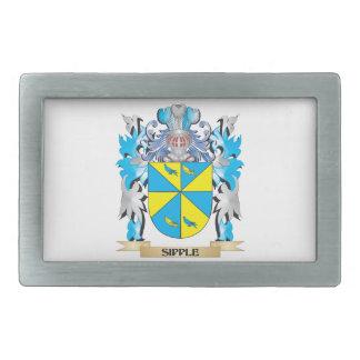 Escudo de armas de Sipple - escudo de la familia Hebillas Cinturon Rectangulares