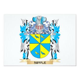 Escudo de armas de Sipple - escudo de la familia Invitación 12,7 X 17,8 Cm