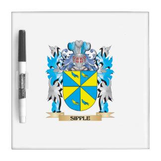 Escudo de armas de Sipple - escudo de la familia Pizarras Blancas De Calidad