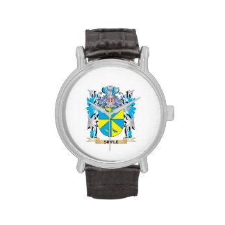 Escudo de armas de Sipple - escudo de la familia Relojes