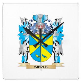 Escudo de armas de Sipple - escudo de la familia Reloj De Pared