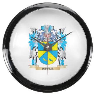 Escudo de armas de Sipple - escudo de la familia Relojes Pecera