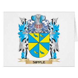 Escudo de armas de Sipple - escudo de la familia Tarjeta De Felicitación Grande