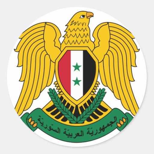 escudo de armas de Siria Etiqueta Redonda