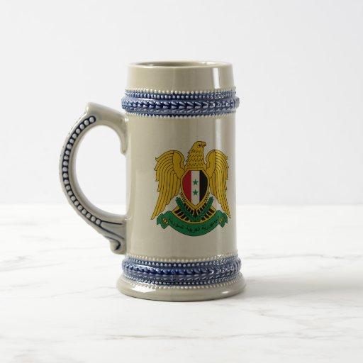 escudo de armas de Siria Jarra De Cerveza