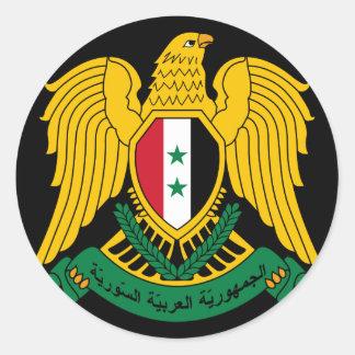 escudo de armas de Siria Pegatina Redonda