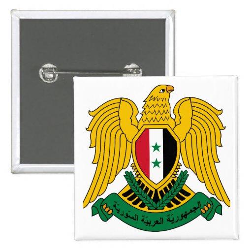 escudo de armas de Siria Pin