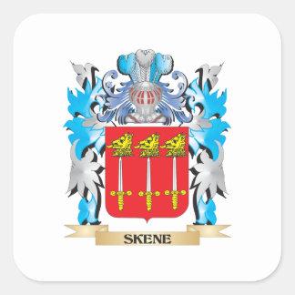 Escudo de armas de Skene - escudo de la familia Pegatina Cuadrada