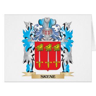 Escudo de armas de Skene - escudo de la familia Tarjeta De Felicitación Grande