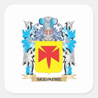 Escudo de armas de Skidmore - escudo de la familia Pegatina Cuadrada