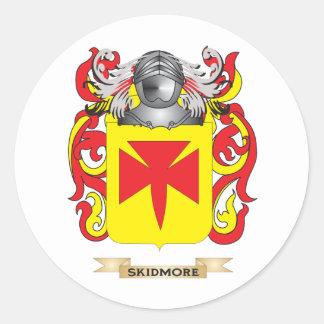 Escudo de armas de Skidmore (escudo de la familia) Pegatina Redonda