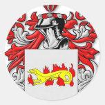 Escudo de armas de Slabaugh Etiqueta Redonda