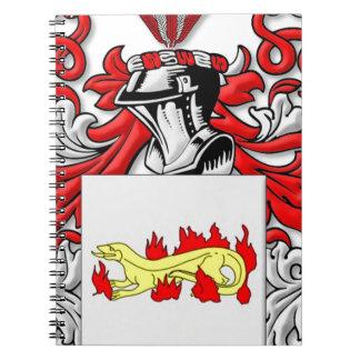 Escudo de armas de Slabaugh Cuaderno