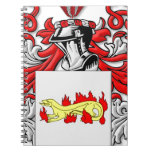 Escudo de armas de Slabaugh Libros De Apuntes Con Espiral
