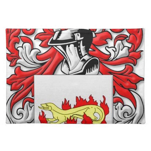 Escudo de armas de Slabaugh Manteles Individuales