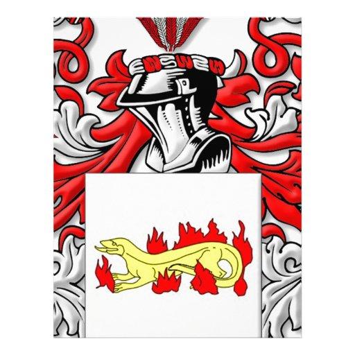 Escudo de armas de Slabaugh Membretes Personalizados