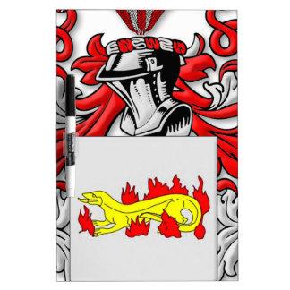 Escudo de armas de Slabaugh Tablero Blanco
