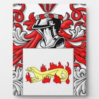 Escudo de armas de Slabaugh Placa De Plastico