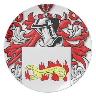 Escudo de armas de Slabaugh Plato Para Fiesta